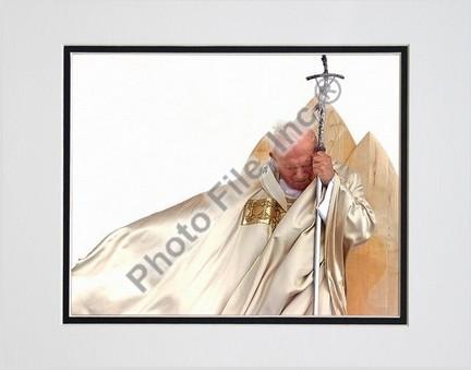 "Pope John Paul II ""1920 - 2005"" Double Matted 8"" X 10"" Photograph (Unframed)"