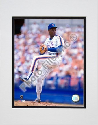 Dwight Gooden Pitching Action Double Matted 8 X 10 Photograph Unframed
