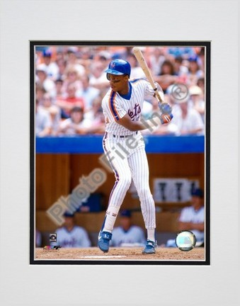 Darryl Strawberry Batting Action Double Matted 8 X 10 Photograph Unframed