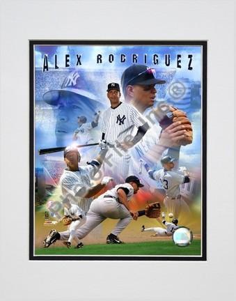 Alex Rodriguez 2005 Composite Double Matted 8 X 10 Photograph Unframed