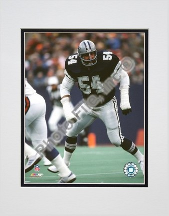 """Randy White """"Game Action"""" Double Matted 8"""" X 10"""" Photograph (Unframed)"""