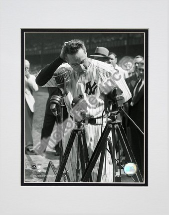 Lou Gehrig Farewell #2 Vertical Double Matted 8 X 10 Photograph Unframed