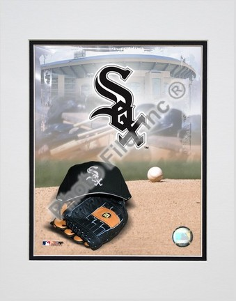 Chicago White Sox 2005 Logo  Cap and Glove Double Matted 8 X 10 Photograph Unframed