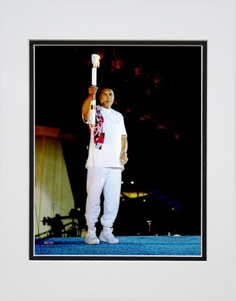 """Muhammad Ali """"1996 Olympics #2"""" Double Matted 8"""" X 10"""" Photograph (Unframed)"""
