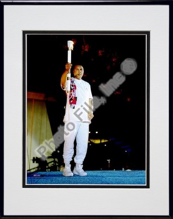 "Muhammad Ali ""1996 Olympics #2"" Double Matted 8"" X 10"" Photograph in Black Anodized Aluminum Frame"