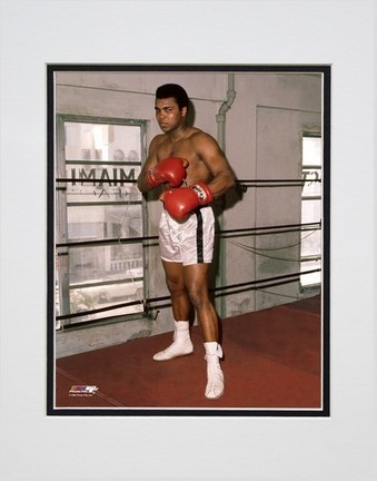 "Muhammad Ali ""At The Gym #3"" Double Matted 8"" X 10"" Photograph (Unframed)"