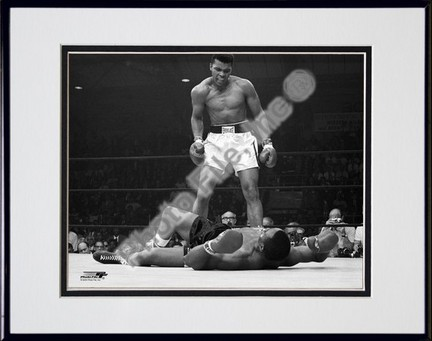 "Muhammad Ali ""1965 1st Round Knock Out Against Sonny Liston #5"" Double Matted 8"" X 10"" Photograph in"