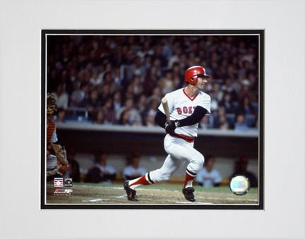 Carl Yastrzemski 2005 Bating Action Double Matted 8 X 10 Photograph Unframed