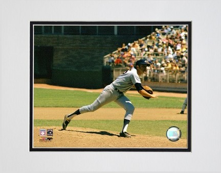 Phil Niekro Pitching Action  Horizontal Double Matted 8 X 10 Photograph Unframed