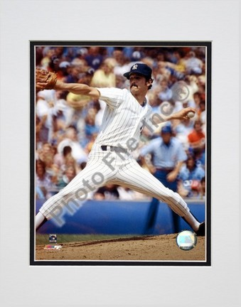 Ron Guidry Pitching Action Double Matted 8 X 10 Photograph Unframed