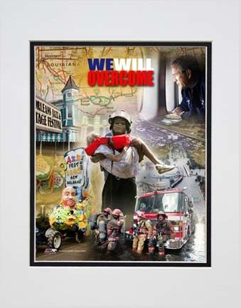 """We Will Overcome (Katrina Hurricane) Double Matted 8"""" x 10"""" Photograph (Unframed)"""