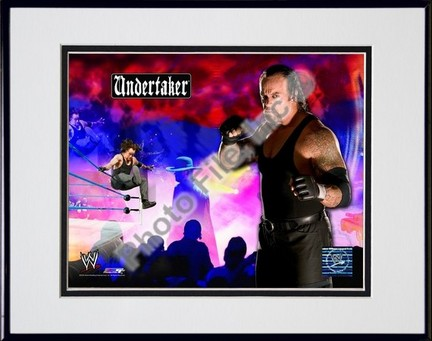 "Undertaker #238 Double Matted 8"" x 10"" Photograph in Black Anodized Aluminum Frame"