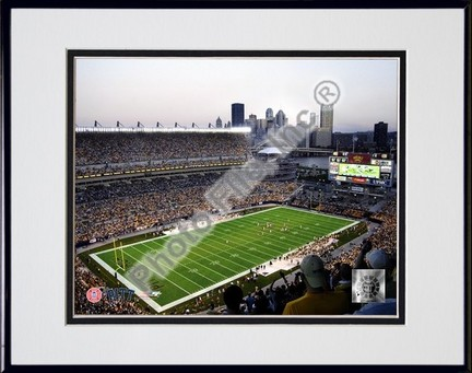 """Pittsburgh Panthers """"Heinz Field"""" Double Matted 8"""" x 10"""" Photograph in Black Anodized Aluminum Frame"""