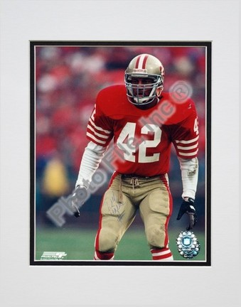 "Ronnie Lott San Francisco 49ers ""Action"" Double Matted 8"" x 10"" Photograph (Unframed)"