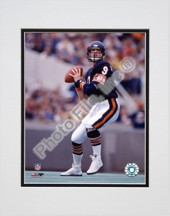 """Jim McMahon """"Passing Action"""" Double Matted 8"""" x 10"""" Photograph (Unframed)"""