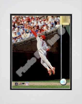 """Ozzie Smith """"Fielding Action"""" Double Matted 8"""" x 10"""" Photograph (Unframed)"""