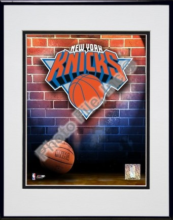 """New York Knicks """"2006 Logo"""" Double Matted 8"""" X 10"""" Photograph in a Black Anodized Aluminum Frame"""