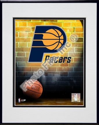 """Indiana Pacers """"2006 Logo"""" Double Matted 8"""" X 10"""" Photograph in a Black Anodized Aluminum Frame"""