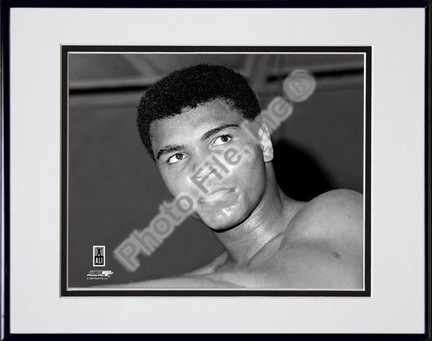 "Muhammad Ali #6 Double Matted 8"" X 10"" Photograph in Black Anodized Aluminum Frame"