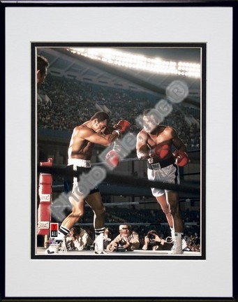 "Muhammad Ali #7 Double Matted 8"" X 10"" Photograph in Black Anodized Aluminum Frame"