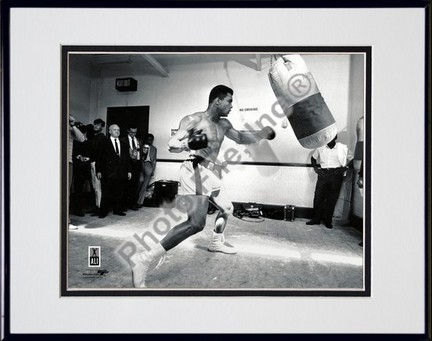 """Muhammad Ali #8 Double Matted 8"""" X 10"""" Photograph in Black Anodized Aluminum Frame"""
