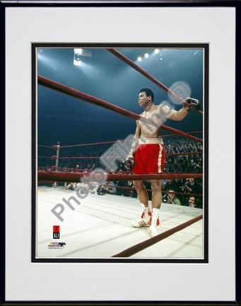 "Muhammad Ali #9 Double Matted 8"" X 10"" Photograph in Black Anodized Aluminum Frame"