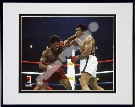"Muhammad Ali #15 Double Matted 8"" X 10"" Photograph in Black Anodized Aluminum Frame"