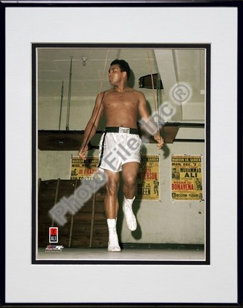 "Muhammad Ali #14 Double Matted 8"" X 10"" Photograph in Black Anodized Aluminum Frame"