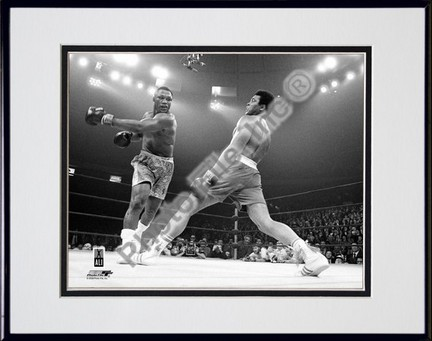 "Muhammad Ali #12 Double Matted 8"" X 10"" Photograph in Black Anodized Aluminum Frame"