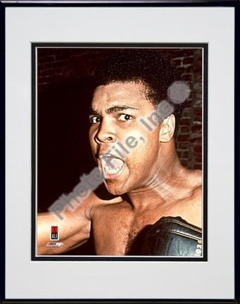 "Muhammad Ali #11 Double Matted 8"" X 10"" Photograph in Black Anodized Aluminum Frame"
