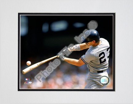 """Don Mattingly """"""""1990 Batting Action"""""""" Double Matted 8"""""""" x 10"""""""" Photograph (Unframed)"""" PHF-AAHC075-33"""