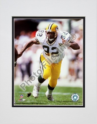 "Reggie White """"Action"""" Double Matted 8� x 10� Photograph (Unframed)"" PHF-AAHC137-33"