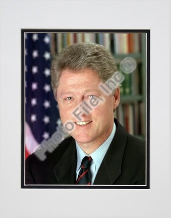 "President William Jefferson Clinton Official Portrait (#10) Double Matted 8"" X 10"" Photograph (Unframed)"
