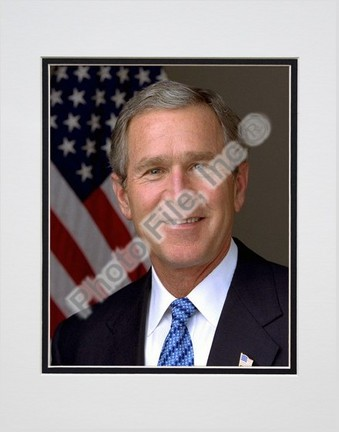 "President George W. Bush Official Portrait (#11) Double Matted 8"" X 10"" Photograph (Unframed)"