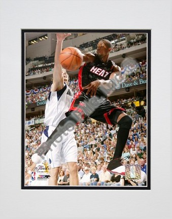 """Dwyane Wade 2006 """"Finals / Game 2 Action"""" Double Matted 8"""" X 10"""" Photograph (Unframed)"""