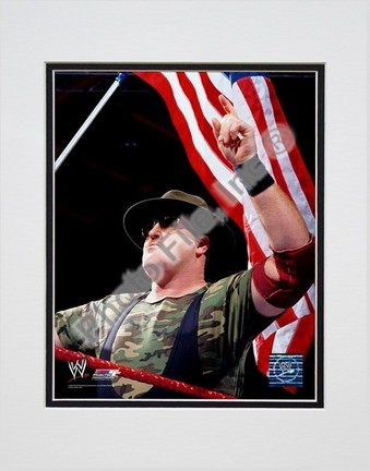 "Sgt. Slaughter #349 Double Matted 8"" X 10"" Photograph (Unframed)"