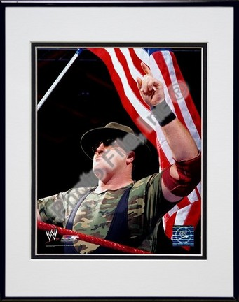 "Sgt. Slaughter #349 Double Matted 8"" X 10"" Photograph in a Black Anodized Aluminum Frame"