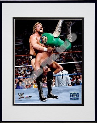 "Ted DiBiase #355 Double Matted 8"" X 10"" Photograph in a Black Anodized Aluminum Frame"