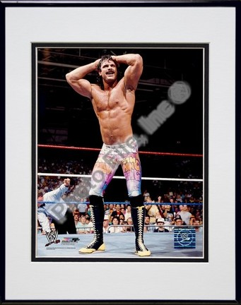 "Ravishing Rick Rude #353 Double Matted 8"" X 10"" Photograph in a Black Anodized Aluminum Frame"