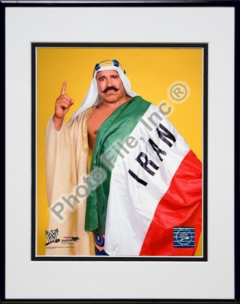 "Iron Sheik #350 Double Matted 8"" X 10"" Photograph in a Black Anodized Aluminum Frame"