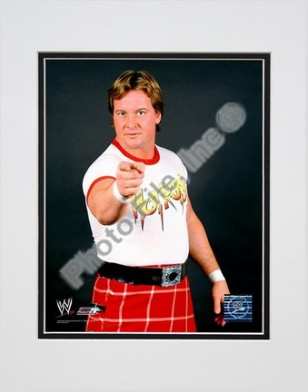 """Rawdy Roddy Piper #351 Double Matted 8"""" X 10"""" Photograph (Unframed)"""