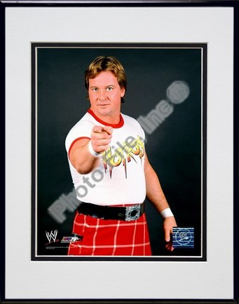 "Rawdy Roddy Piper #351 Double Matted 8"" X 10"" Photograph in a Black Anodized Aluminum Frame"