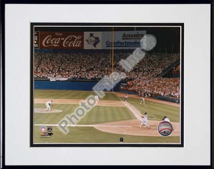 """Nolan Ryan """"5000th K (Strikeout)"""" Double Matted 8"""" x 10"""" Photograph in Black Anodized Aluminum Frame"""