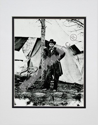 """General Ulysses S. Grant #16 Double Matted 8"""" x 10"""" Photograph (Unframed)"""
