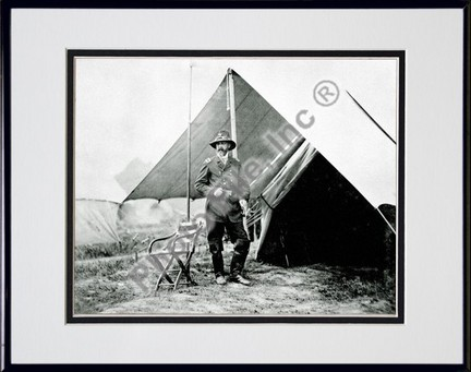 """General George Meade #17 Double Matted 8"""" x 10"""" Photograph in Black Anodized Aluminum Frame"""
