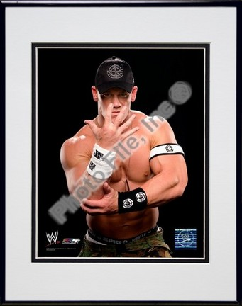 "John Cena #368 Double Matted 8"" X 10"" Photograph in a Black Anodized Aluminum Frame"