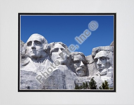 """Mount Rushmore #19 Double Matted 8"""" x 10"""" Photograph (Unframed)"""