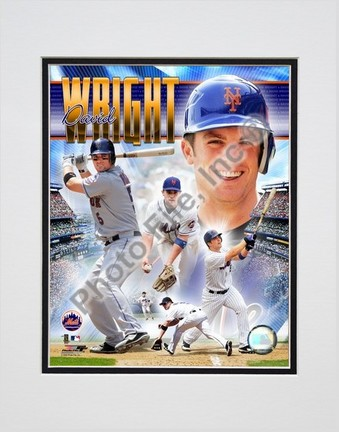 "David Wright """"2006 Portrait Plus"""" Double Matted 8"""" X 10"""" Photograph (Unframed)"" PHF-AAHN074-33"