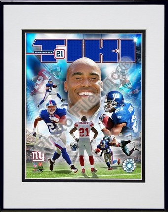 "Tiki Barber ""2006 Portrait Plus"" Double Matted 8"" X 10"" Photograph in Black Anodized Aluminum Frame"