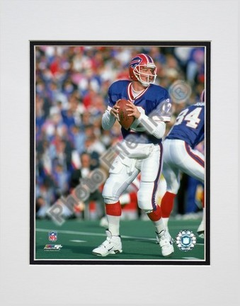 """Jim Kelly """"Blue Jersey"""" Double Matted 8"""" X 10"""" Photograph (Unframed)"""